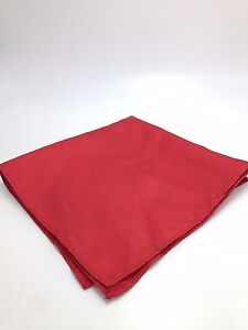 $95 Club Room Men`S Dress Casual Handkerchief Solid Red Silk Pocket Square