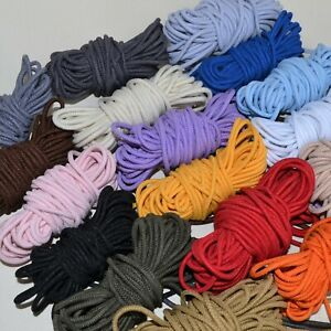 Round stretchy elastic cord 3 mm - six colours to choose from