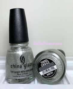 China Glaze Nail Polish Tinsel 28842 Silver Glass Effect Holographic Lacquers