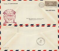 US 1939 PAN AM TRANS ATLANTIC FIRST FLIGHT UNITED STATES TO NEW FOUNDLAND COVER