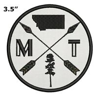 Montana Adventure Embroidered Patch Iron / Sew-On Decorative Gear Applique