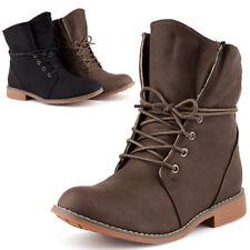 Neu Damen Schnür Stiefeletten Boots Stiefel Warm Gefüttert 1847 Schuhe Gr. 36-41
