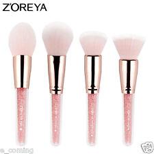 Zoreya Cute Pink 4PCS Diamond Multifunctional Contour Powder Concealer Brush