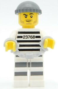 Lego Minifigure Prisoner with handcuffs stubble