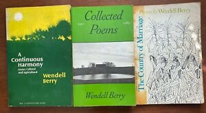 Vintage Book Lot - Wendell Berry Poetry Essays Country of Marriage Continuous Ha
