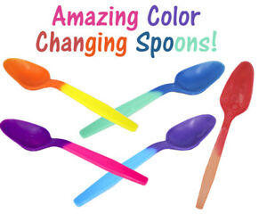 FUN! Color Changing Spoons, Party Favorites Reusable Recyclable Eco Friendly NEW