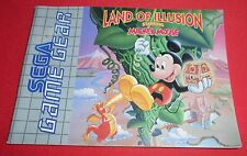 Notice Land of Illusion Starring Mickey Mouse pour Game Gear [Sega] *JRF