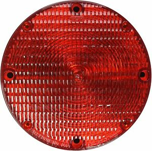 """Grote 50132 Red/Black 7"""" School Bus Light (Double Contact)"""