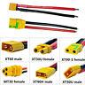 Amass XT30 XT60 XT90H MT30U Male Female Connector Shealth Wire for Lipo Battery
