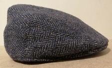 ORVIS 100% grey wool cap UK size 7 3/8 - 7 1/2 Lawrence & Foster Herringbone NEW