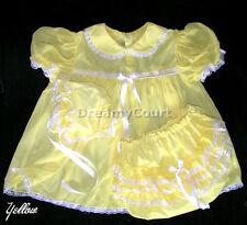 Dreamy Bb Adult Sissy Chiffon Yellow Baby Dress 01