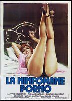 LA NINFOMANE PORNO MANIFESTO FILM 1975 TRIO EROTIQUE SEXY ADULT MOVIE POSTER 2F