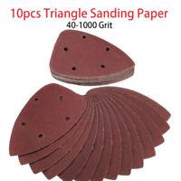 10pcs Schleifdreiecke Dreieck Schleifpapier Schleifscheiben für Deltaschleifer