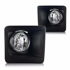 Clear Fog Light Bumper Lamp w/PAIR WIRING + SWITCH KIT For 14-16 GMC Sierra 1500