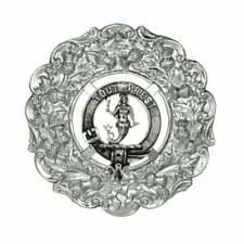 Art Pewter Sinclair Clan Crest Plaid Brooch 211b-c99