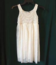 New Speechless Girls Sleeveless Dress White. Size 7