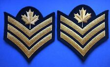 2 Lot 1980's Canadian Navy Petty Officer 2nd Class PO2 Shoulder Rank Patches 019