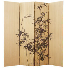 4 Panel Bamboo Bamboo Branches Screen / Room Divider