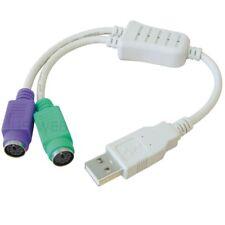USB A Stecker auf 2x PS/2 Buchse Maus Tastatur Konverter Kabel Adapter ucd