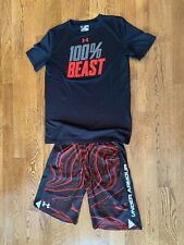 Boys Under Armour shirt and shorts set