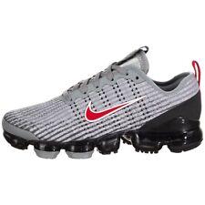 Nike Air VaporMax Flyknit 3 Grey University Red BQ5238 006 GS Size 7 Women's 8.5