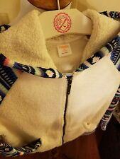Gymboree Girls Size 7/8 Blue Pink Sherpa Jacket Lined w/ Hood Retail $40 Medium