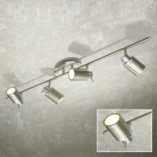 Chrome 4 Multi-Angled Light Ceiling Spotlight IP 44 - 6115 Hib Nero
