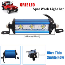 Off-Road Ultra Thin Single Row CREE LED Spot Work Fog Light Bar6000K Waterproof