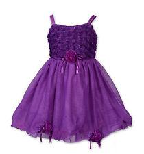 Neuf violet fleur fille party pageant robe de soirée 2-3 ans