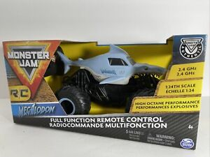 Monster Jam - Authentic Megalodon 1:24 Scale RC Truck - Dual Joystick, Oversized