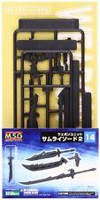 MSG Modeling Support Goods Weapon Unit MW14 Samurai Sword 2 Plastic Kit