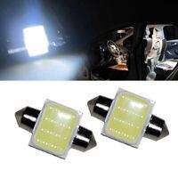 2pcs White 31mm 12 SMD COB LED Light Bulbs Car Interior Dome Map Reading Lights