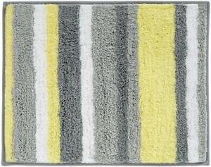 Idesign Stripz Microfiber Polyester Bath Mat, Non-Slip Shower Accent Rug For Mas