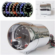 "3.75"" Silver  LED Tachometer For 4, 6 and 8 Cylinder Engines 12V Petrol Vehicle"