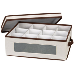 Household Essentials 538 Vision China Storage Box with Lid and Handles