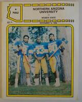 Vintage Football Media Press Guide Northern Arizona University 1988