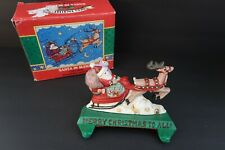 Midwest of Cannon Mary Engelbreit Cast Iron Santa Sleigh Double Stocking Hanger
