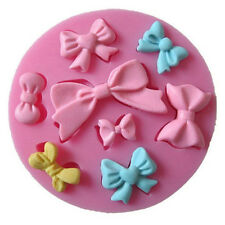 Bowknot Cake Mold Soap Flexible Silicone Mould For Candy Chocolate Cake