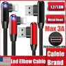 CAFELE LED Reversible USB Elbow Charging Lightning Cable Data F iPhone X 8 11