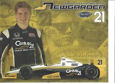"""2013 INDY 500 JOSEF NEWGARDEN CENTURY 21 INDYCAR 8 1/2""""X 11"""" HERO CARD"""