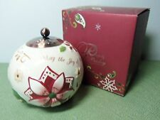 Pavilion Gifts Holiday CERAMIC CANDLE HOLDER Perfectly Paisley Collection #76069