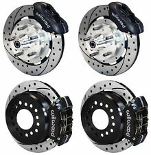 "WILWOOD DISC BRAKE KIT,59-64 CHEVY IMPALA,BEL AIR,11"" DRILLED ROTORS,BLACK CALIP"