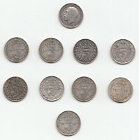GEORGE V .925 SILVER THREEPENCE 3d 1911 1912 1913 1914 1915 1916 1917 1918 1919
