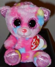 "Ty Beanie Boos ~ FRANKY the 6"" Tie Dyed Bear ~ BRAND NEW for 2018 ~ IN HAND"