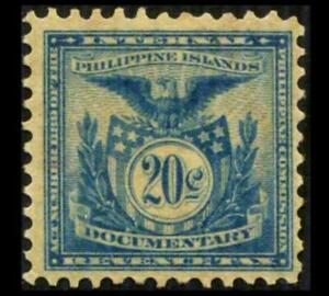 W714 PHILIPPINES Revenue 20c Blue DOCUMENTARY PERF 12 Eagle SEE PHOTOS K-550