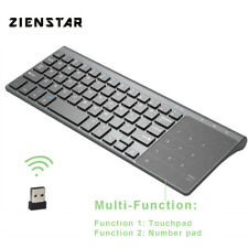Wireless Keyboard and Touchpad Mouse Numpad Mini 2.4ghz for Mac PC TV Box Win10