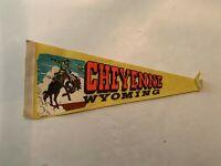 Vintage Cheyenne Wyoming Felt Pennant