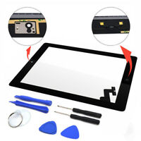 New Touch White Screen Glass Digitizer Replacement + Adhesive for iPad 2 ^S