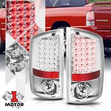 Chrome/Clear *FULL LED* Tail Light Rear Reverse Brake Lamp for 02-06 Dodge Ram