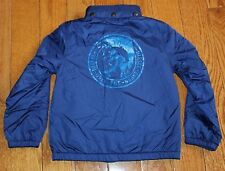 $120 New DIESEL Full Zip Jacket Cotton Nylon Boys Youth 4 Blue Indian Only Brave